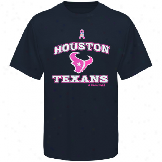 Reebok Houston Texans Black Breast Cancer Awareness T-shirt