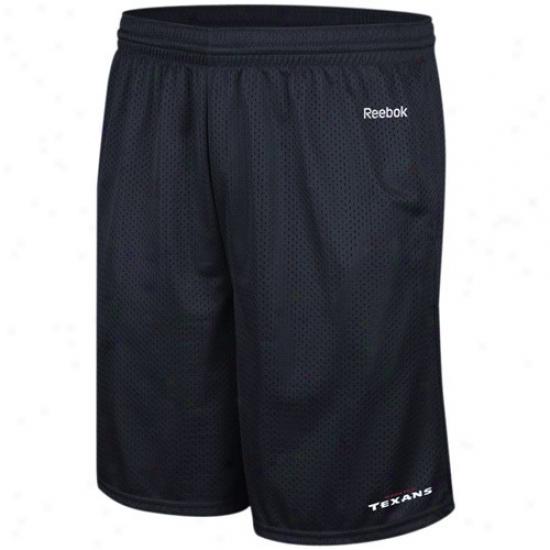 Reebok Houston Texans Navy Blue Johnson Mesh Shorts