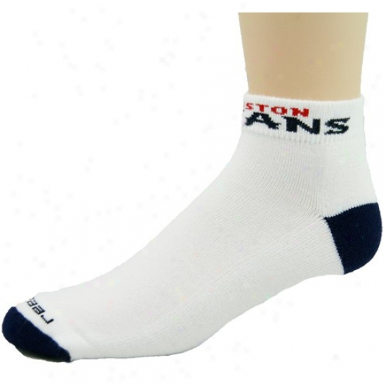 Reebok Houston Texans White-navy Blue Low-cut Socks