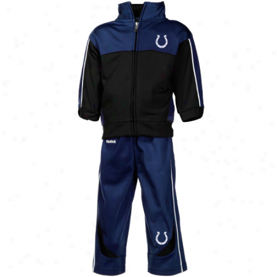 Reebok Indianapolis Colts Infant Black-nayb Blue Full Zip Jacket & Pants Set