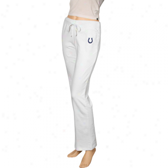 Reebok Indianapolis Colts Ladids White Team Logo Stretch Fleece Pants