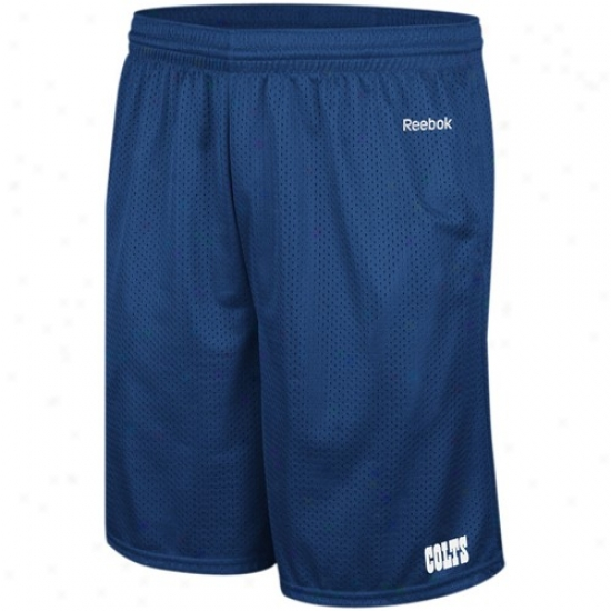 Reebok Indianapolis Colts Royal Blue Johnson Mesh Shorts