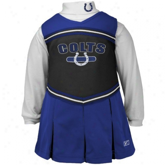 Reebok Indianapolis Colts Royal Blue Youth 2-piece Cheerleader Dress