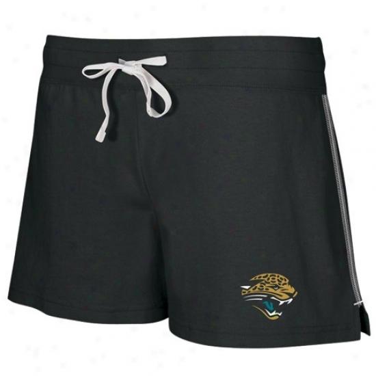 Reebok Jacksonville Jaguars Ladies Black Active Logo Shorts
