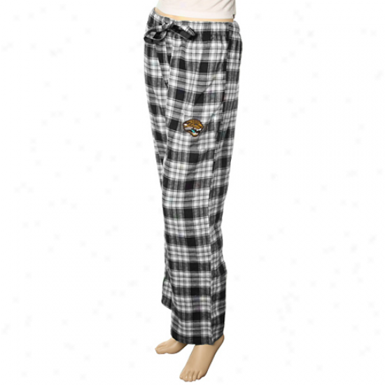 Reebok Jacksonville Jaguars Ladies Black Plaid Flannel Pajama Pants