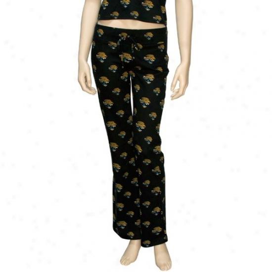 Reebok Jacksonville Jaguars Ladies Black Tandem Pajama Pants