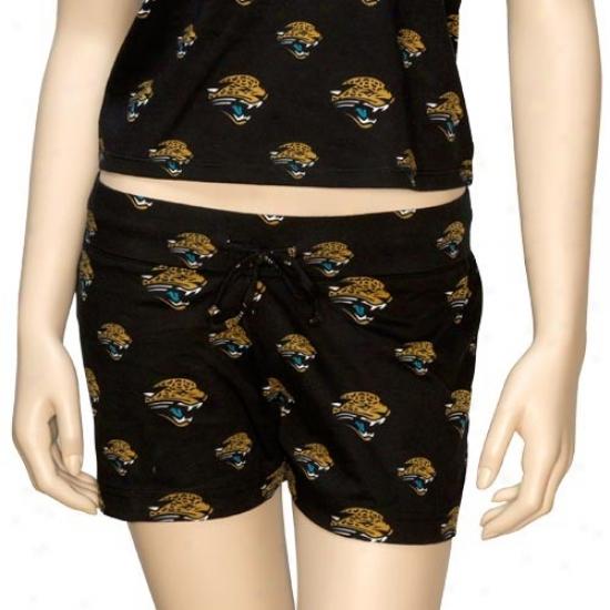 Reebok Jacksonville Jaguars Ladies Black Tandem Shorts