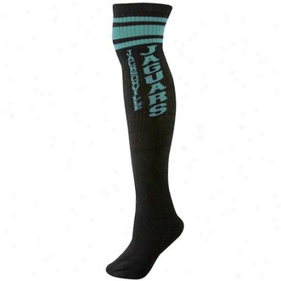 Reebok Jacksonville Jaguars Ladies Black Tube Socks