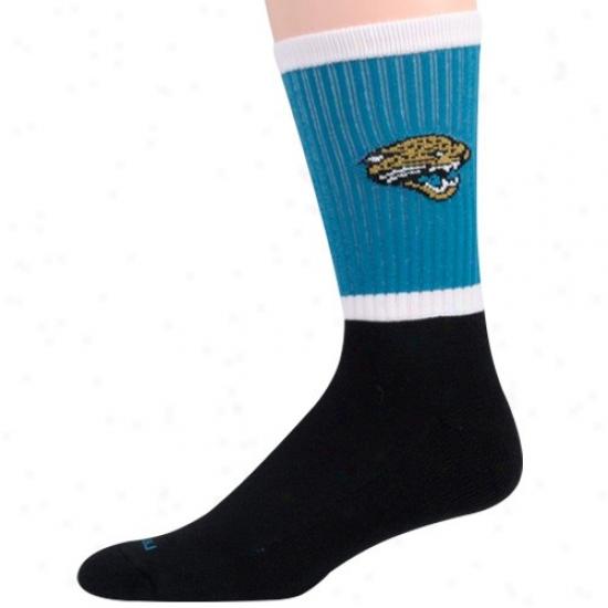 Reebok Jacksonville Jaguars Teal-black Crew Socks