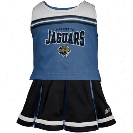 Reebok Jacksonville Jaguars Teal Youth 2-piece Cheerleaddr Dress