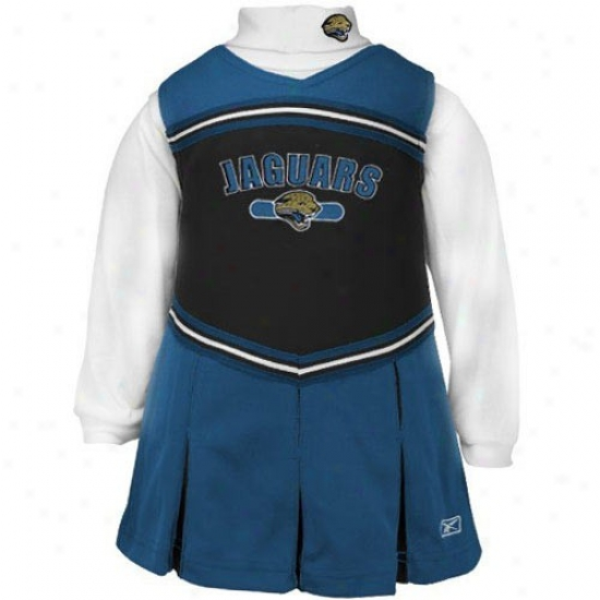 Reebok Jacksonville Jaguars Youth Teal 2-piece Cheerleader Dress