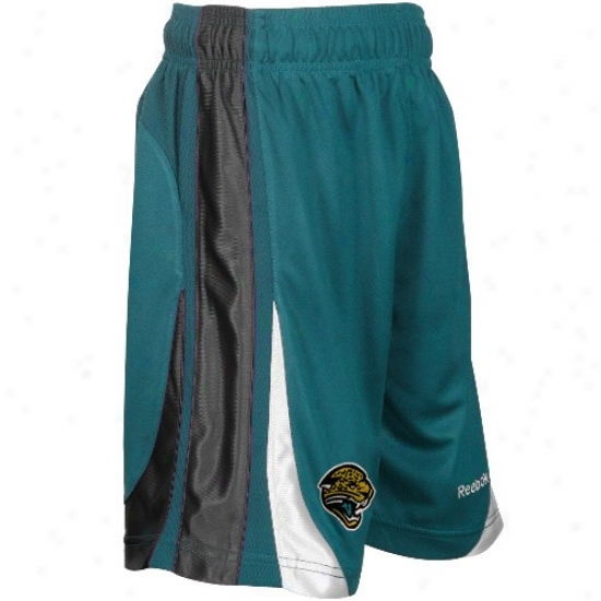 Reebok Jacksonville Jaguars Youth Teal The Thirty-five Basketball Shorts