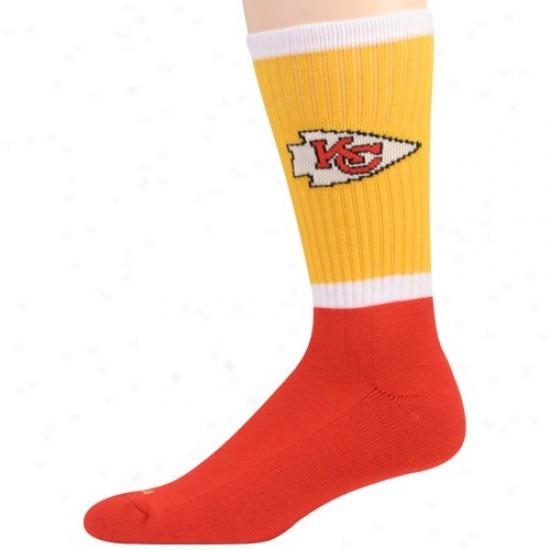Reebok Kansas City Chiefs Gold-red Crew Socks