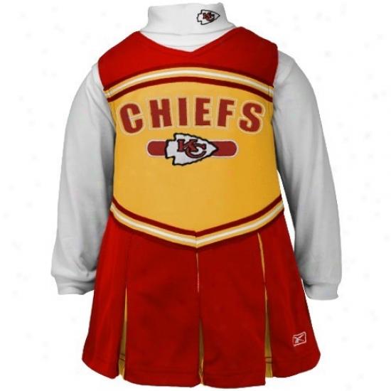 Reebok Kansas City Chiefs Infant Gold 2-piece Cheerleader Dress