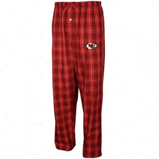 Reebok Kansas City Chiefs Red Plaid Event Pajama Pqnts