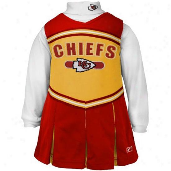 Reebok Kansas City Chiefs Red Toddler 2-piece Cheerleader Dress