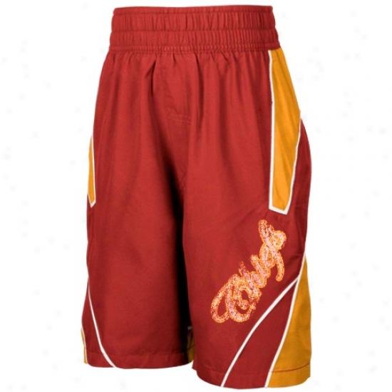 Reebok Kansas City Chiefs Youth Red Axel Boardshorts