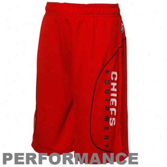 Reebok Kansas City Chiefs Youth Red Performance Shorts