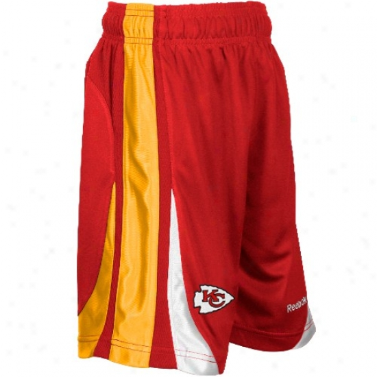 Reebok Kansas City Chiefs Youth Red The Thirty-five Basketball Shorts