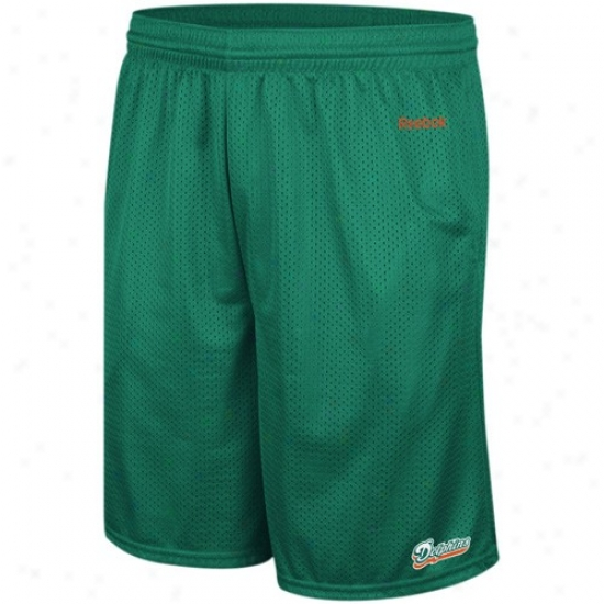 Reebok Miami Dolphins Aqua Johnson Mesh Shorts