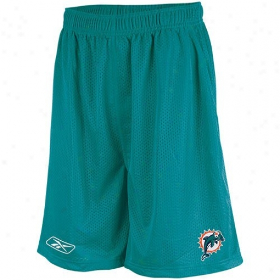 Reebok Miami Dolphins Aqua Youth Coaches Mesh Shorts