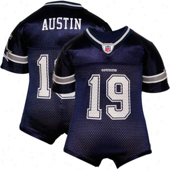 Reebok Miles Austin Dallas Cowboys Infant Replica Jersey Creeper - Royal Blue