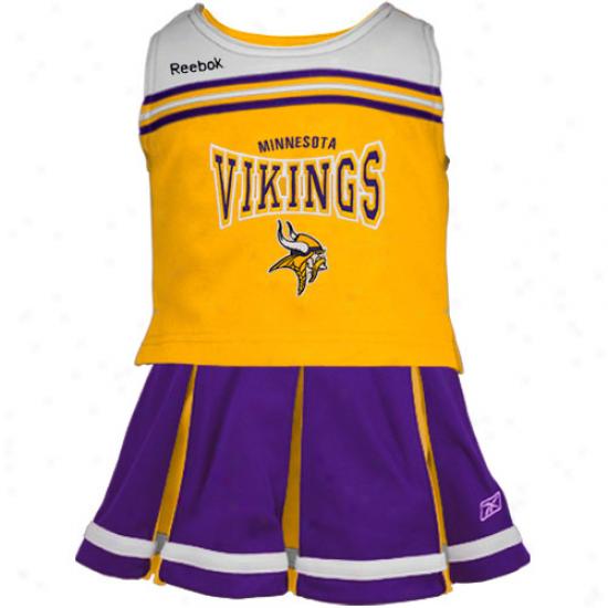 Reebok Minnesota Vikings Preschool Purple-gold Cheerleader Set