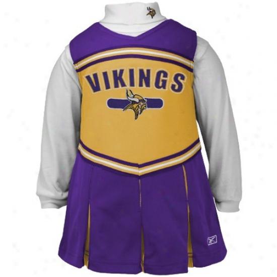 Reebok Minneosta Vikings Purple Infant 2-piece Cheerleader Dress