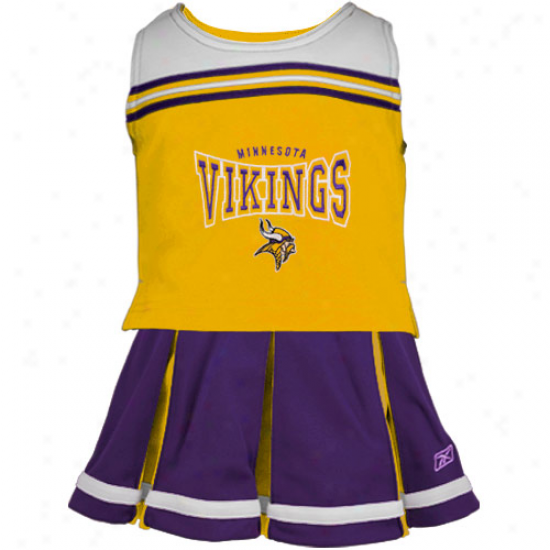 Reebok Minnesota Vikings Youth Purple 2-piece Che3rleader Set