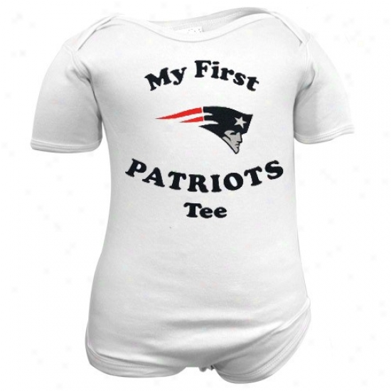 R3ebok New England Patriots Infant White My First Tee Creeper