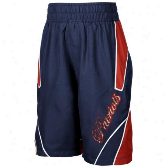 Reebok New England Patriots Youth Navy Blue Axel Boardshorts