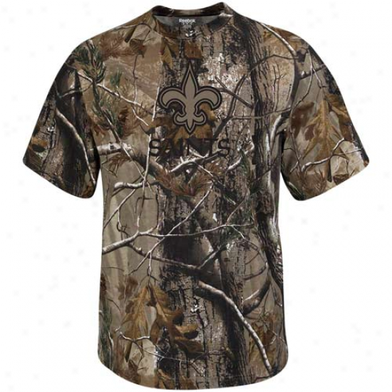 Reebok Just discovered Orleans Saints Realtree Camo T-shirt
