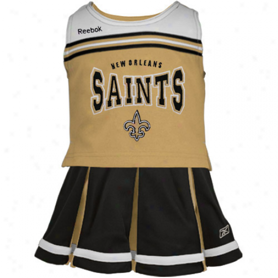 Reebok New Orleans Saints Toddler Golx-black Cheerleader Set