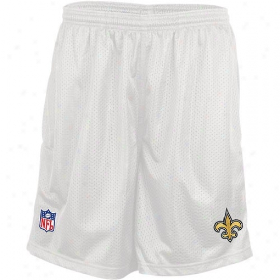 Reebok New Orleans Saints White Coaches Ensnare Shorts