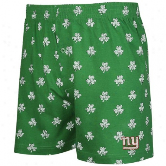 Reegok New York Giants Kelly Green St. Patrick's Day Shamrock Boxer Shorts