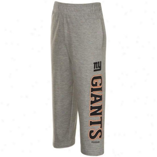 Reebok New York Giants Preschool Ash Mail Game Pants