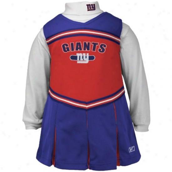 Reebok New York Giants Royal Blue Infant 2-piece Cheerleader Dress