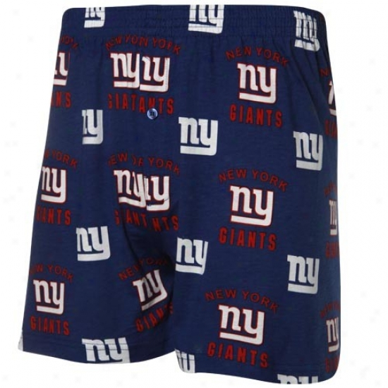 Reebok New York Giants Royal Blue Team Logo Boxer Shorts