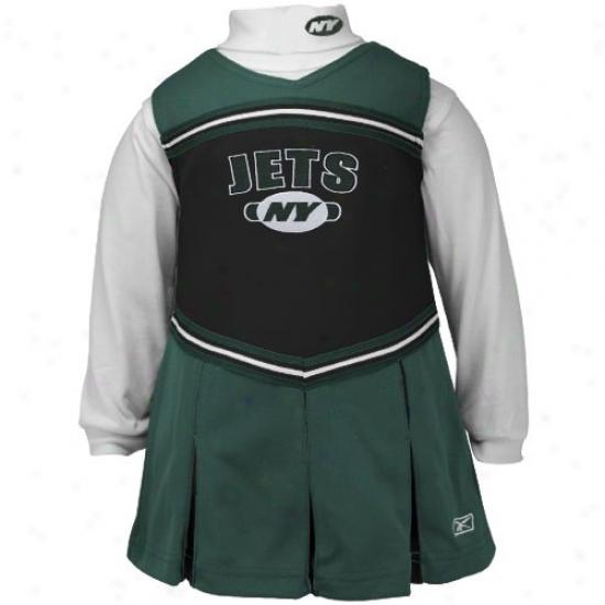 Reebok New York Jets Green Giirls 2-piece Cheerleader Dress