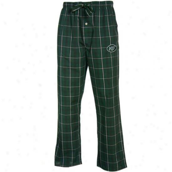 Reebok New York Jets Green Plaid Genuine Pajama Pants