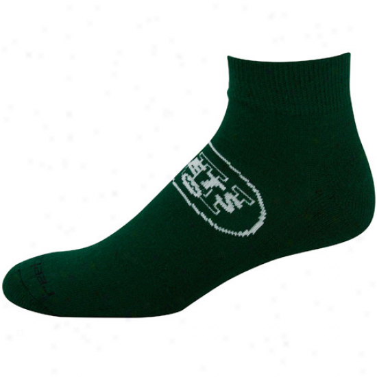 Reebok New York Jets Inexperienced Team Sun Ankle Socks