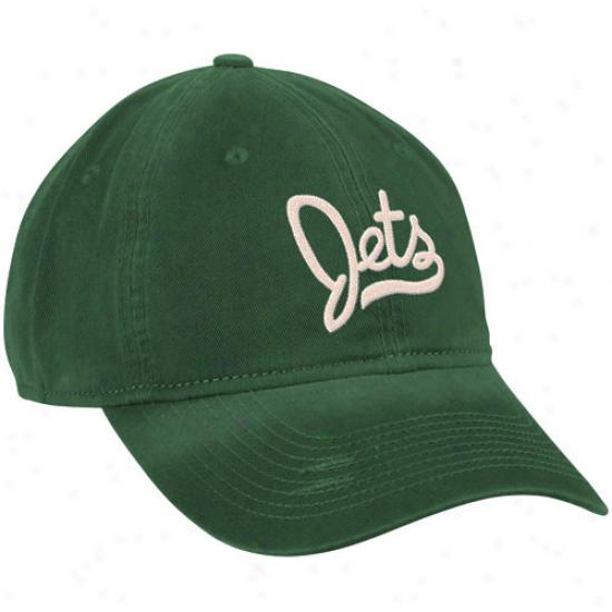 Reebok New York Jets Ladies Green Retro Slouch Adjustable Hat