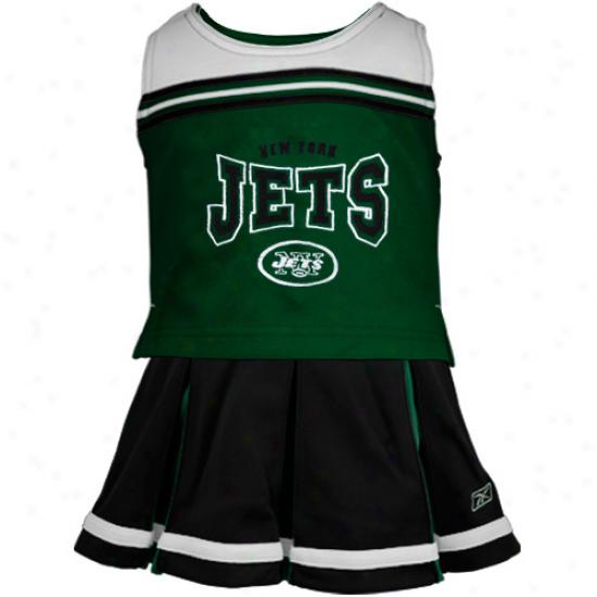 Reebok New Yotk Jets Youth Black 2-piece Cheerleader Set