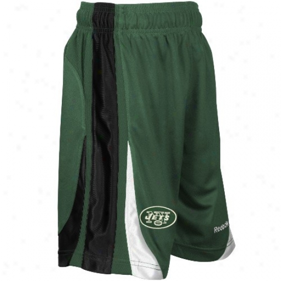 Reebok New York Jets Youth Green The Thirty-five Basketball Shorts