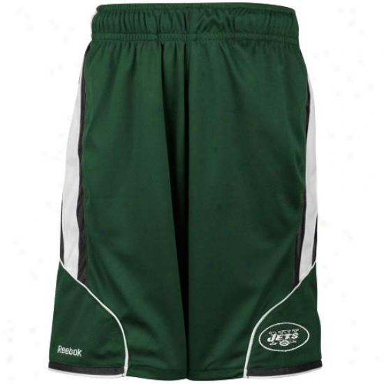 Reebok New York Jets Youth Green The Thirty-five Mesh Shorts