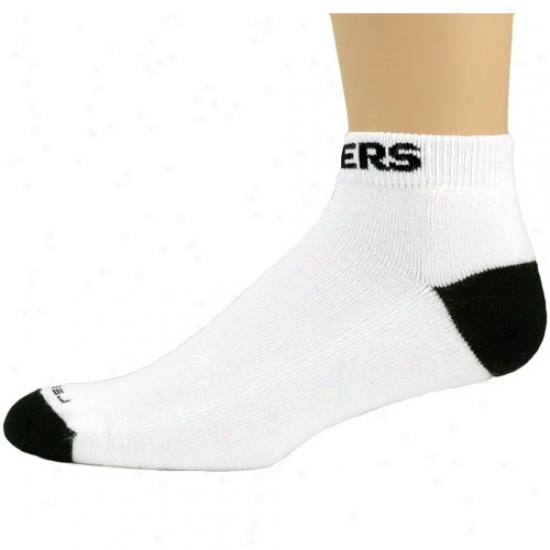 Reebok Oakland Raiders White-black Low-cut Socks