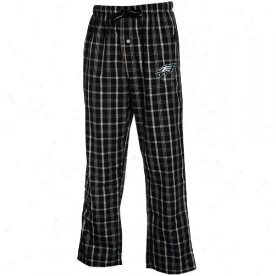Reebok Philadelphia Eagles Black Plaid Genuine Pajama Pants