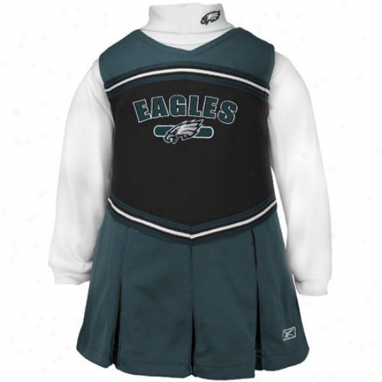 Reebok Philadelphia Eagles Green Girls 2-piece Cheerleader Dress
