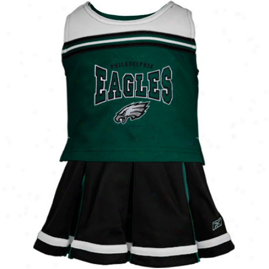 Reebok Philadelphia Eagles Youth Black 2-piece Cheerleader Set