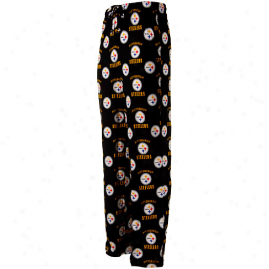 Reebok Pittsburgh Steelers Black Maverick Woven Pajama Pants